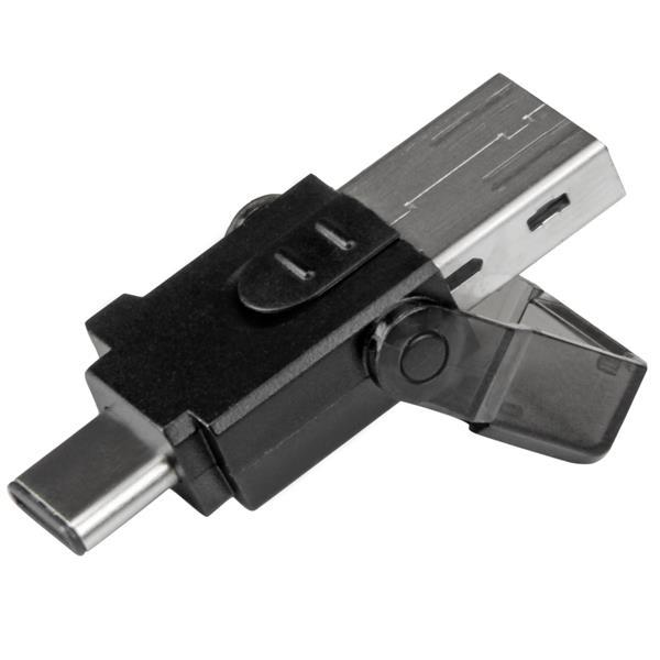 StarTech.com microSD auf USB 3.0 Kartenleser Adapter - für USB-C und USB-A fähige Computer - Kartenleser ( microSD, microSDHC, microSDXC )