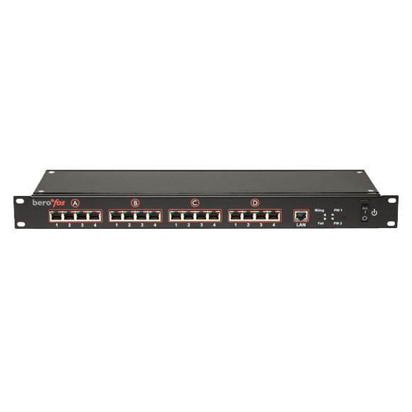 beroNet BNFOS110 - Managed - Fast Ethernet (10/100) - Power over Ethernet (PoE) - Rack-Einbau