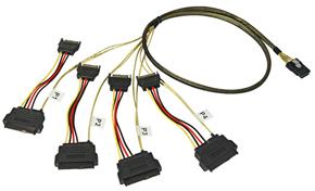 Lindy Internes SATA & SAS Kabel SFF-8087 an 4 x SFF-8482+ S
