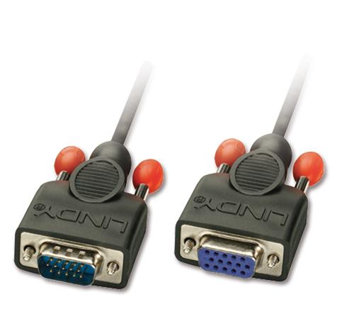Lindy VGA-Verlängerung ohne Ferritkerne 15-pol. HD Stecker/Kupplung
