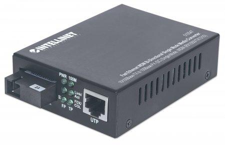 Intellinet 510547 100Mbit/s Einzelmodus Schwarz Netzwerk Medienkonverter