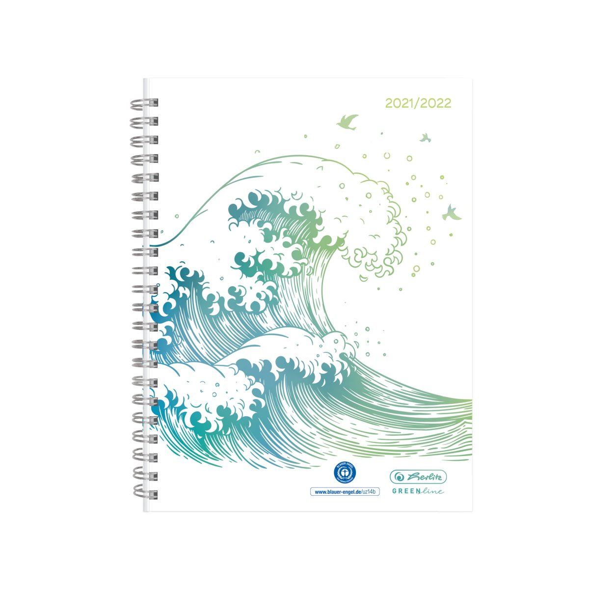 Vorschau: Herlitz Schülerkalender GREENline A5 21/22 Welle Wochenkalen