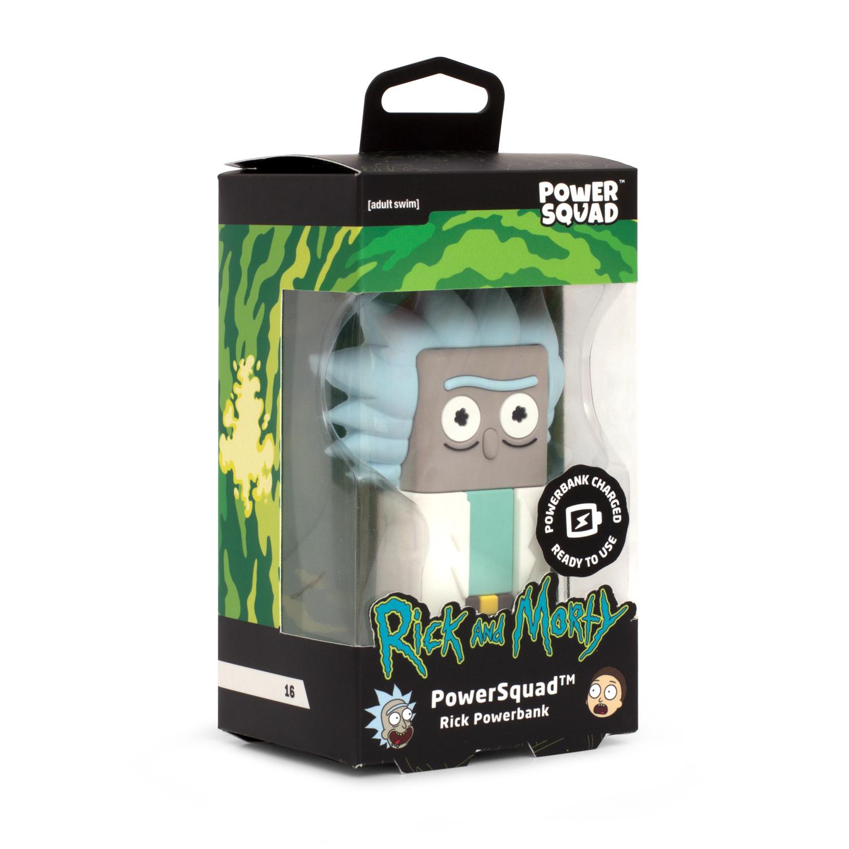 "Thumbs Up PowerSquad - Powerbank CN ""Rick"" - Cartoon Network - Blau - Braun - Grau - Weiß - Handy/Smartphone - Lithium-Ion (Li-Ion) - 2500 mAh - USB - 4 h"