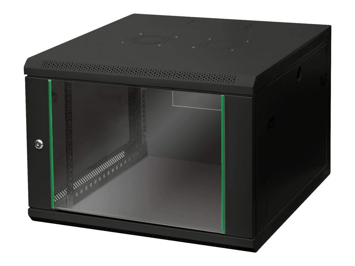 """DIGITUS Dynamic Basic DN-19 07U-6/6-EC-SW - Schrank - Netzwerkschrank - geeignet für Wandmontage - RAL 9005 - 7U - 48.3 cm (19"""")"""