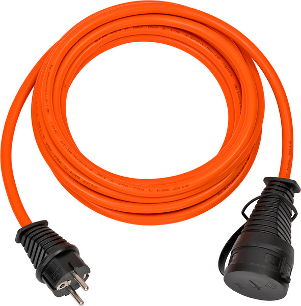 Brennenstuhl 1169920 - 5 m - 1 AC-Ausgänge - Outdoor - IP44 - Schwarz - Orange - 200 mm