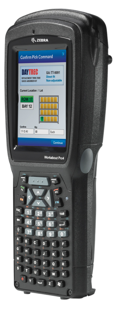 Zebra WAP4 LONG ALPHA NUM CE 6.0 EN 802.11 Handheld Mobile Computer 9,4 cm (3.7 Zoll) 640 x 480 Pixel Touchscreen 526 g Schwarz