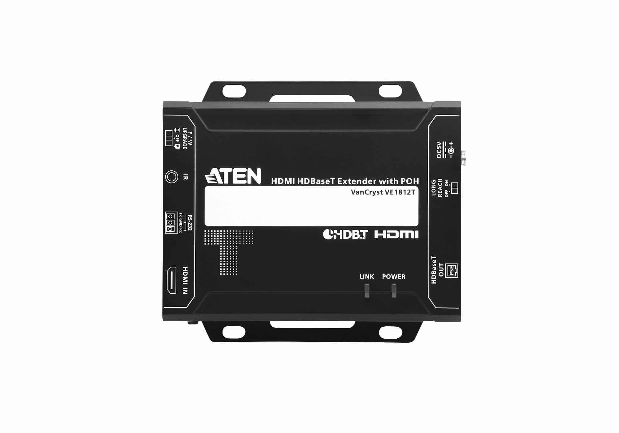 ATEN VE1812 AV transmitter & receiver Schwarz Audio-/Video-Leistungsverstärker