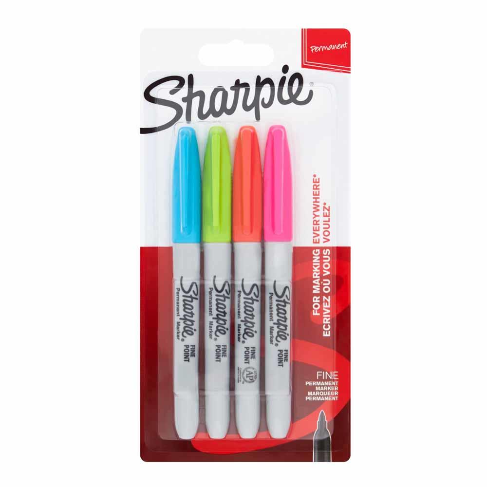 Sharpie Marker Fein Rundspitze F 4er Fun Farben Blister