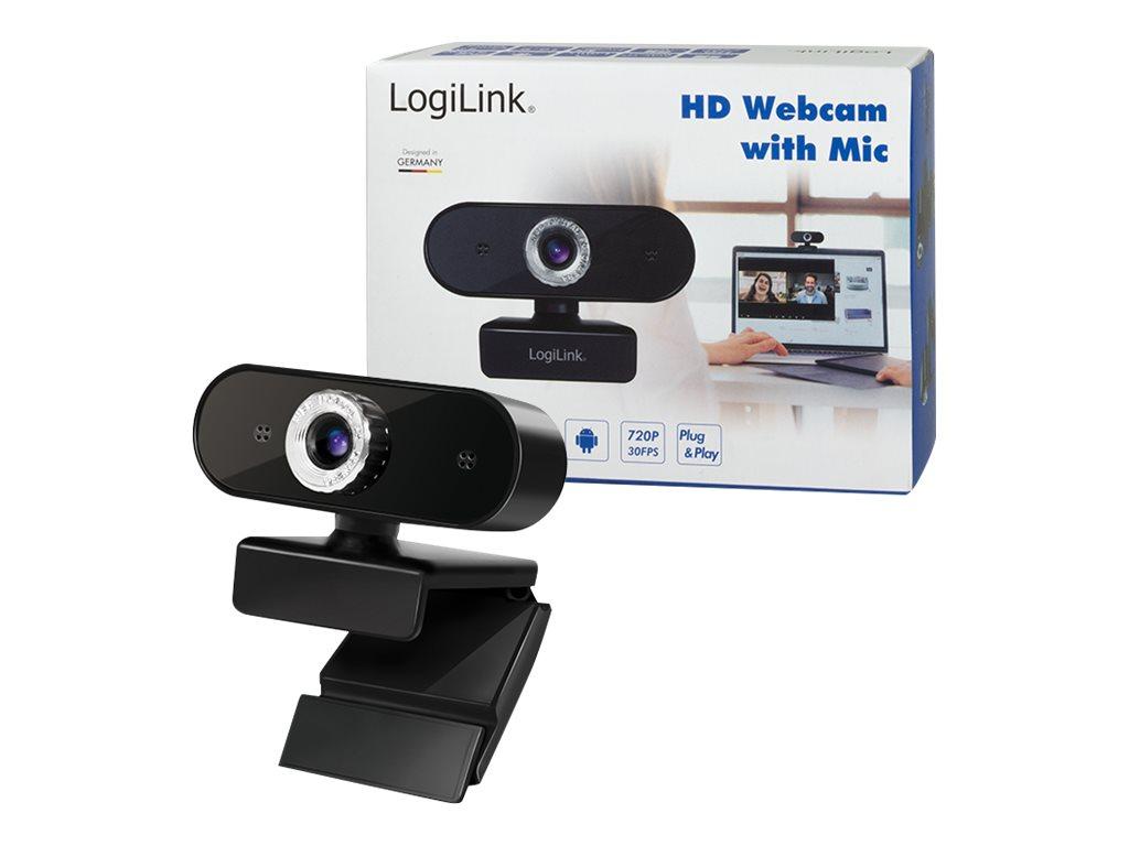 LogiLink HD USB Webcam with Microphone - Web-Kamera