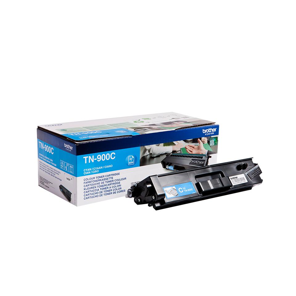 Brother TN-900C Lasertoner 6000Seiten Cyan Lasertoner / Patrone