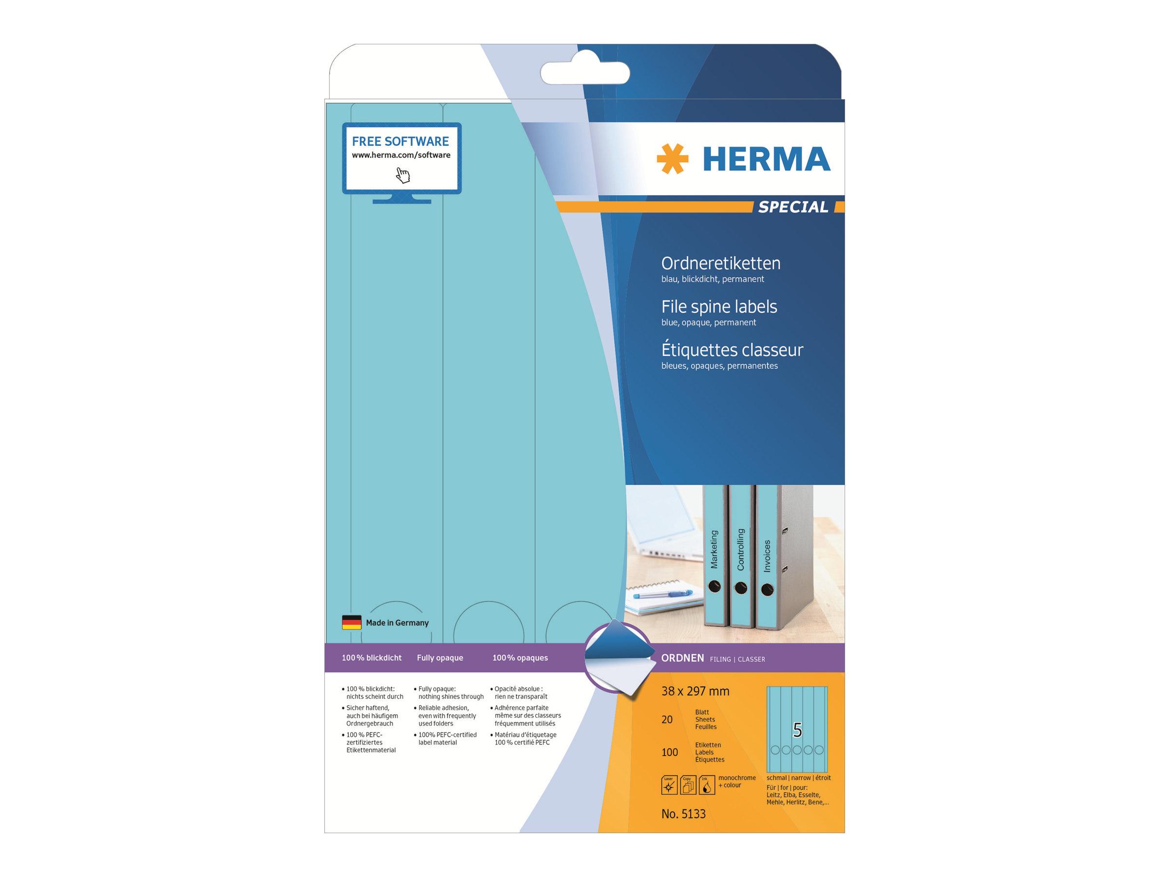 Etiketten A4 neon-gelb 210x297 mm Papier matt 20 St.