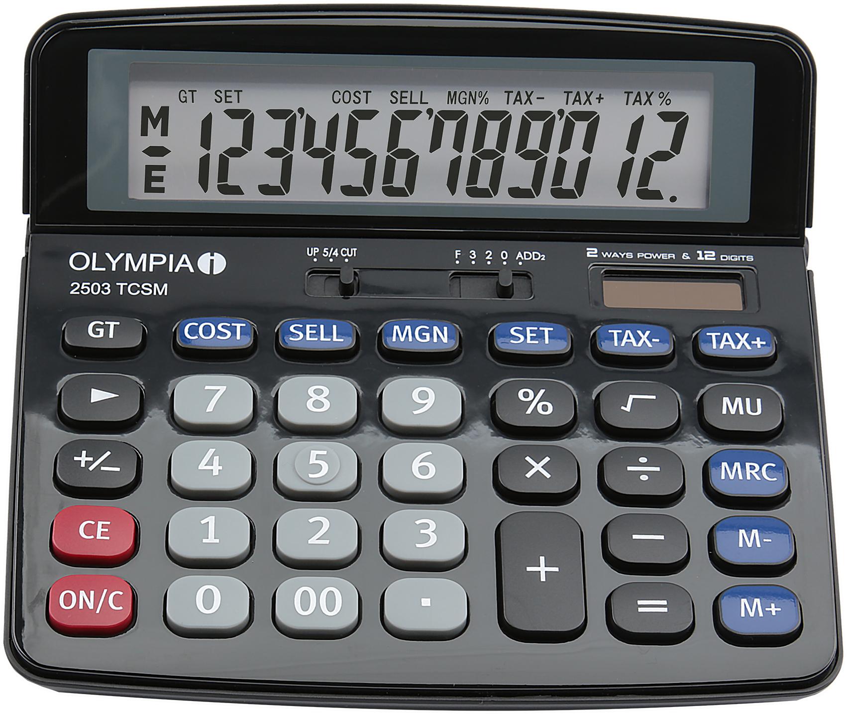 Olympia - 2503 TCSM - Tischrechner - 12-stellige Anzeige - schwarz