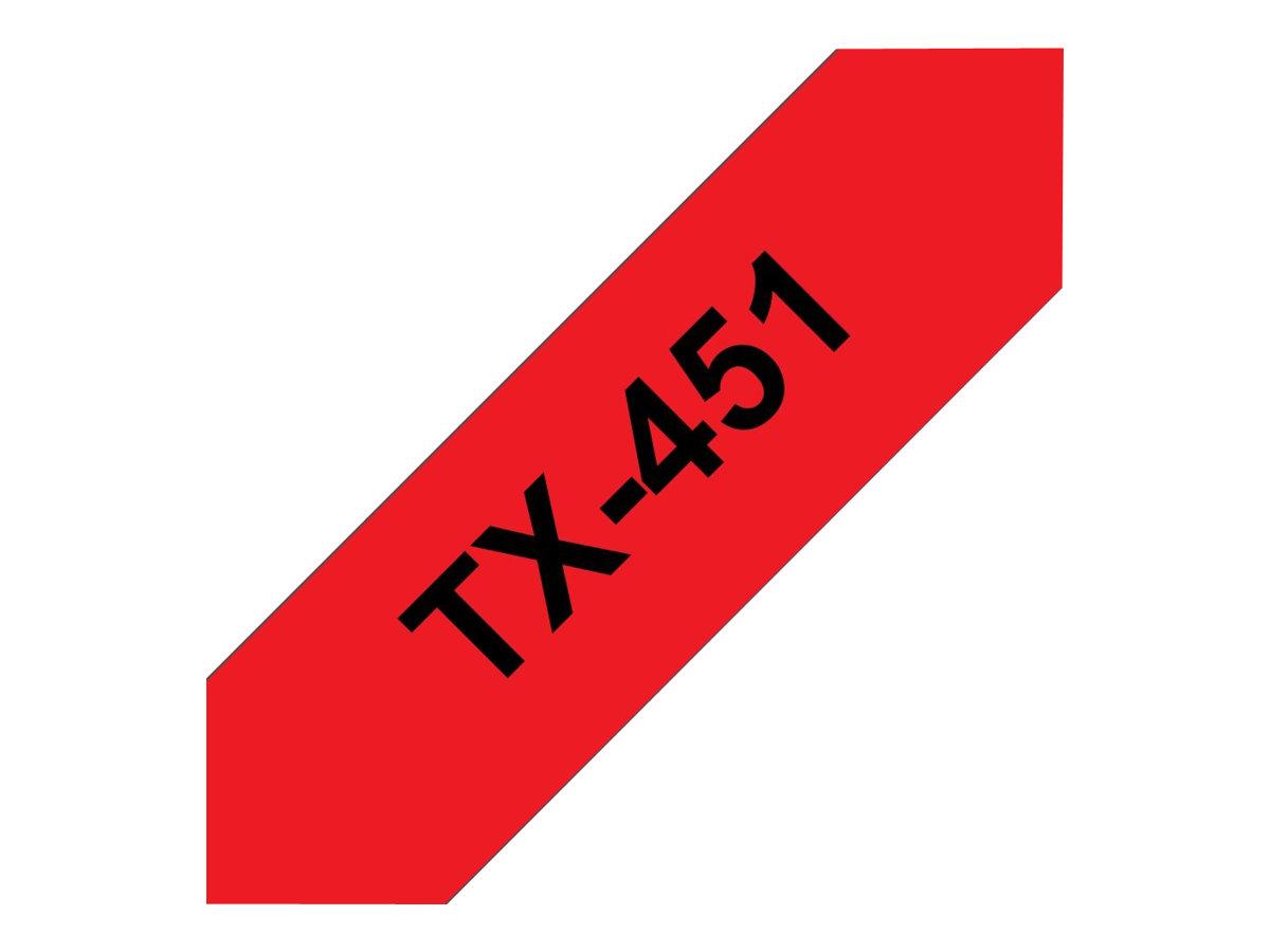 Brother TX - Schwarz auf rot - Rolle (2,4 cm) 1 Rolle(n) laminiertes Band
