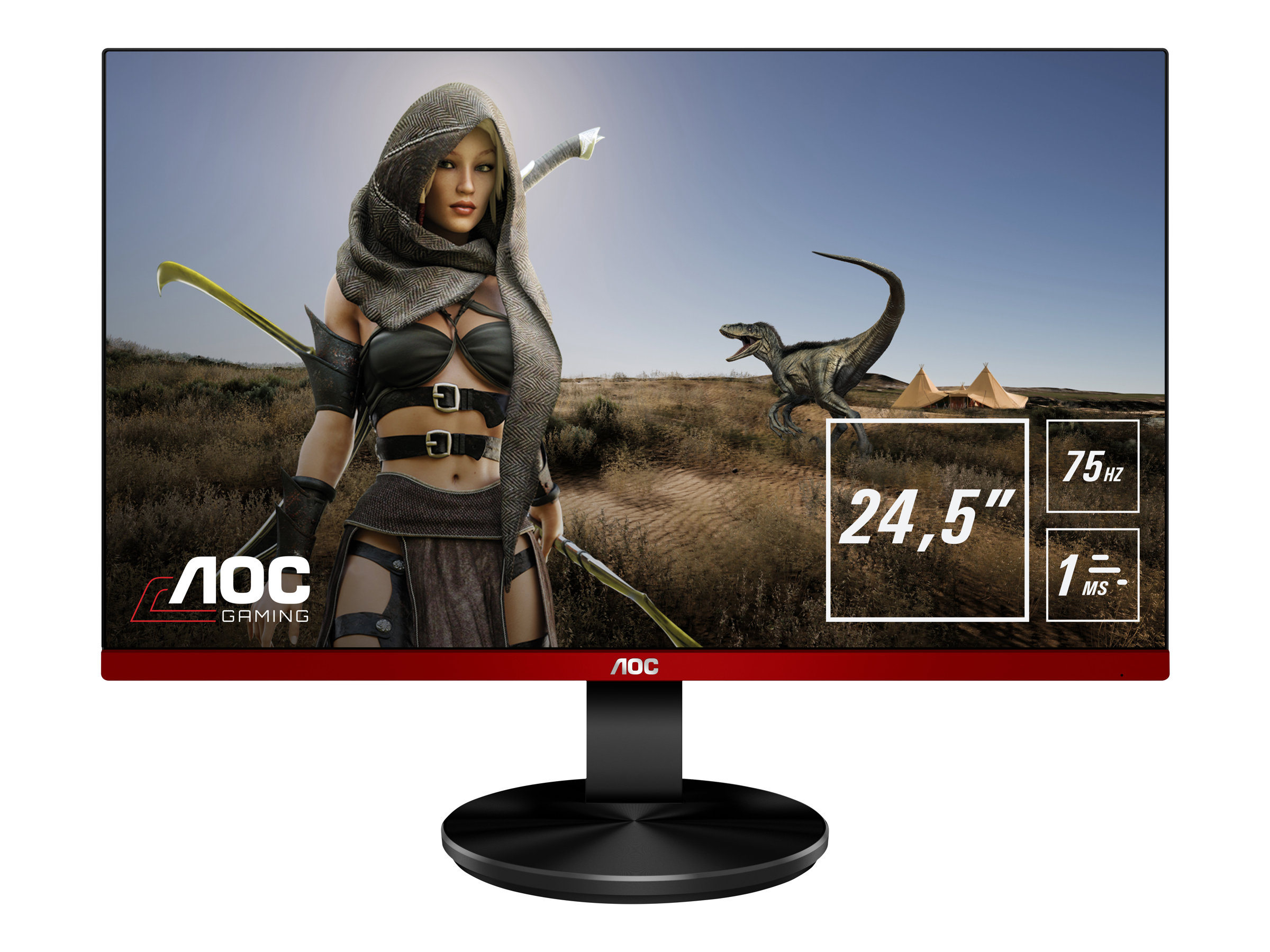 "AOC Gaming G2590VXQ - LED-Monitor - 62.2 cm (24.5"") 1920 x 1080 Full HD (1080p) - TN - 250 cd/m² - 1000:1 - 1 ms - 2xHDMI - VGA - DP - Lautsprecher"