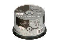 Intenso 50 x CD-R - 700 MB (80 Min) 52x - mit Tintenstrahldrucker bedruckbare Oberfläche