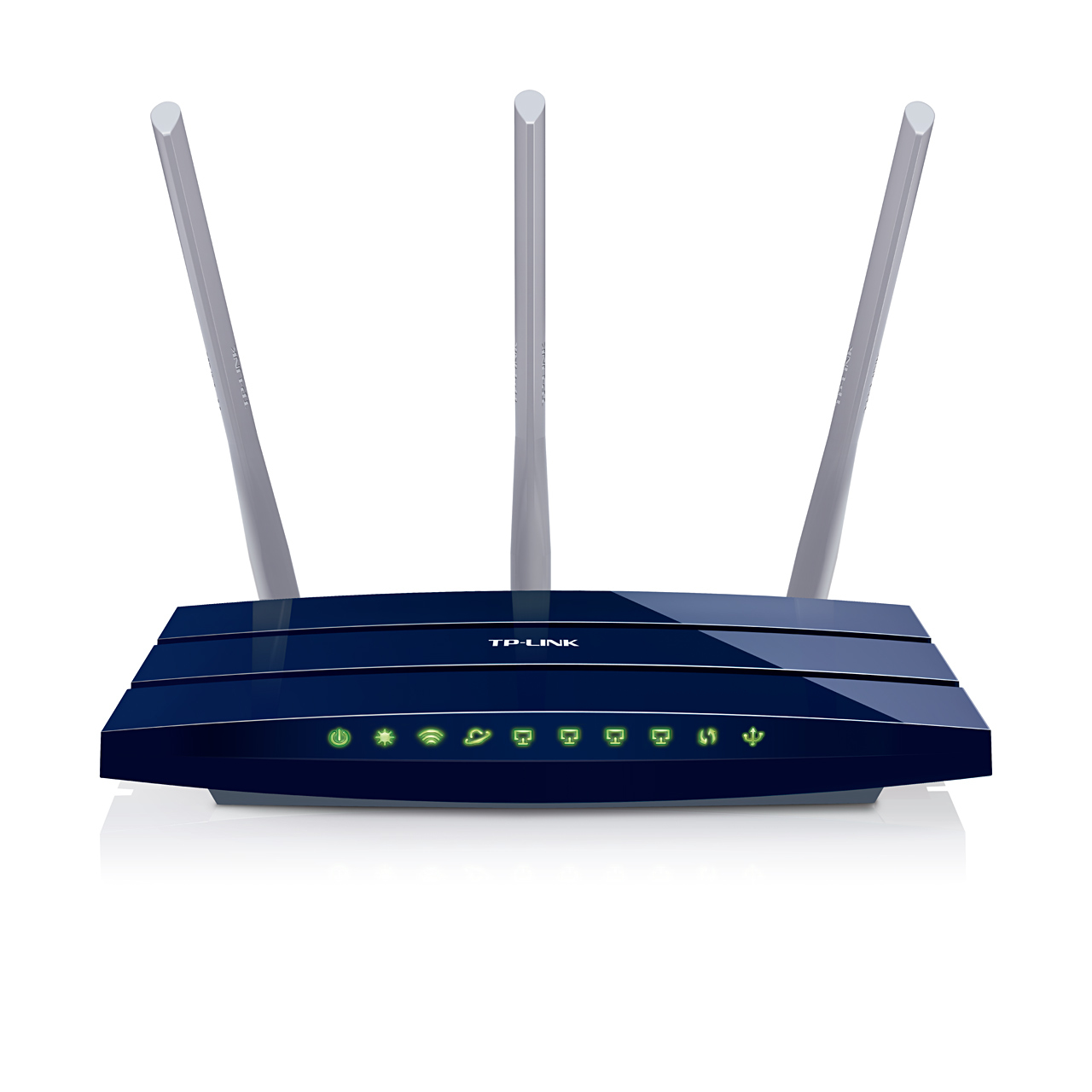 Image of TP-LINK TL-WR1043ND Ultimate 300Mbps Wireless N Gigabit Router - Router - WLAN 1.000 Mbps - Wireless USB Externe