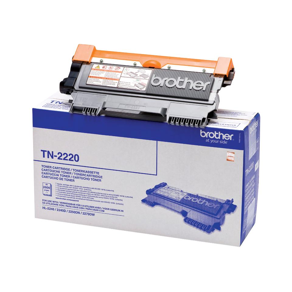 Brother TN-2220 Laser cartridge 2600Seiten Schwarz Lasertoner / Patrone