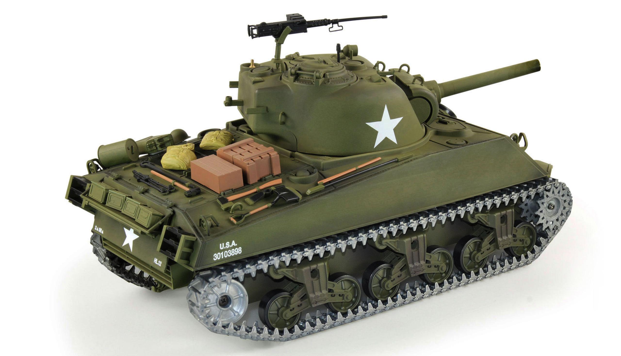 Amewi U.S. M4A3 Sherman - Funkgesteuerter (RC) Panzer - Elektromotor - 1:16 - Betriebsbereit (RTR) - Junge - 14 Jahr(e)