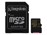 Gold microSD UHS-I Speed Class 3 (U3) 64GB Speicherkarte MicroSDHC Klasse 3