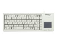 XS Touchpad Tastatur USB QWERTZ Deutsch Grau