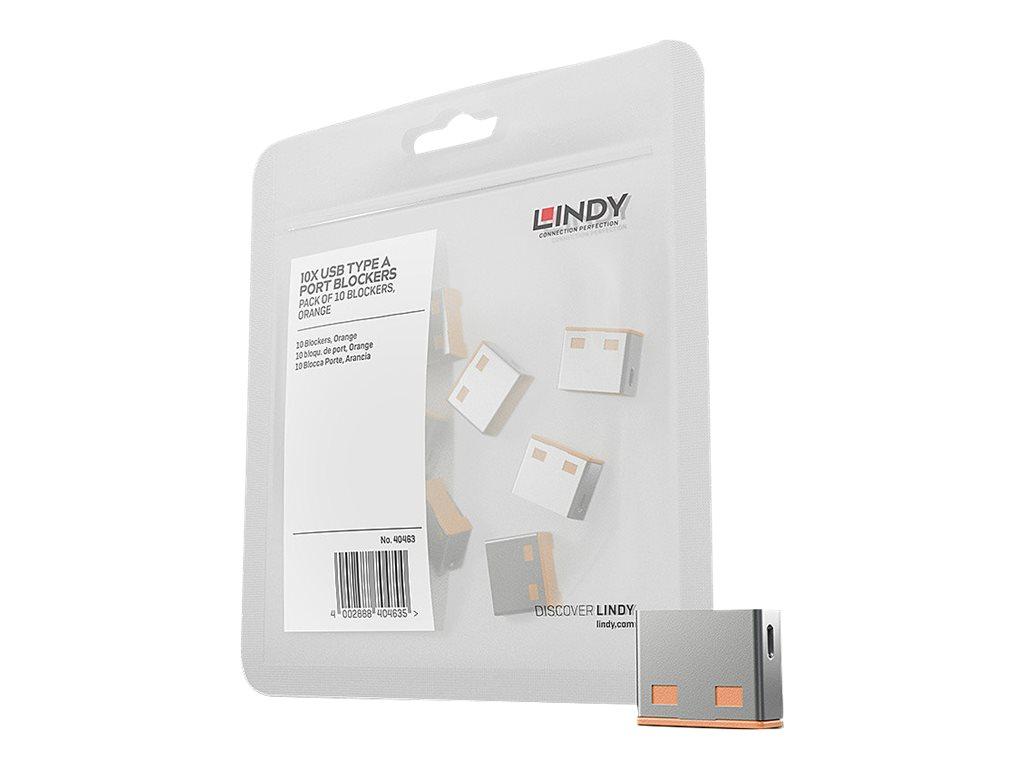 Lindy USB Port Blocker - USB-Portblocker - orange (Packung mit 10)