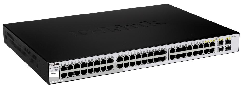 D-Link DGS-1210-48 Managed network switch L2 Schwarz Netzwerk-Switch