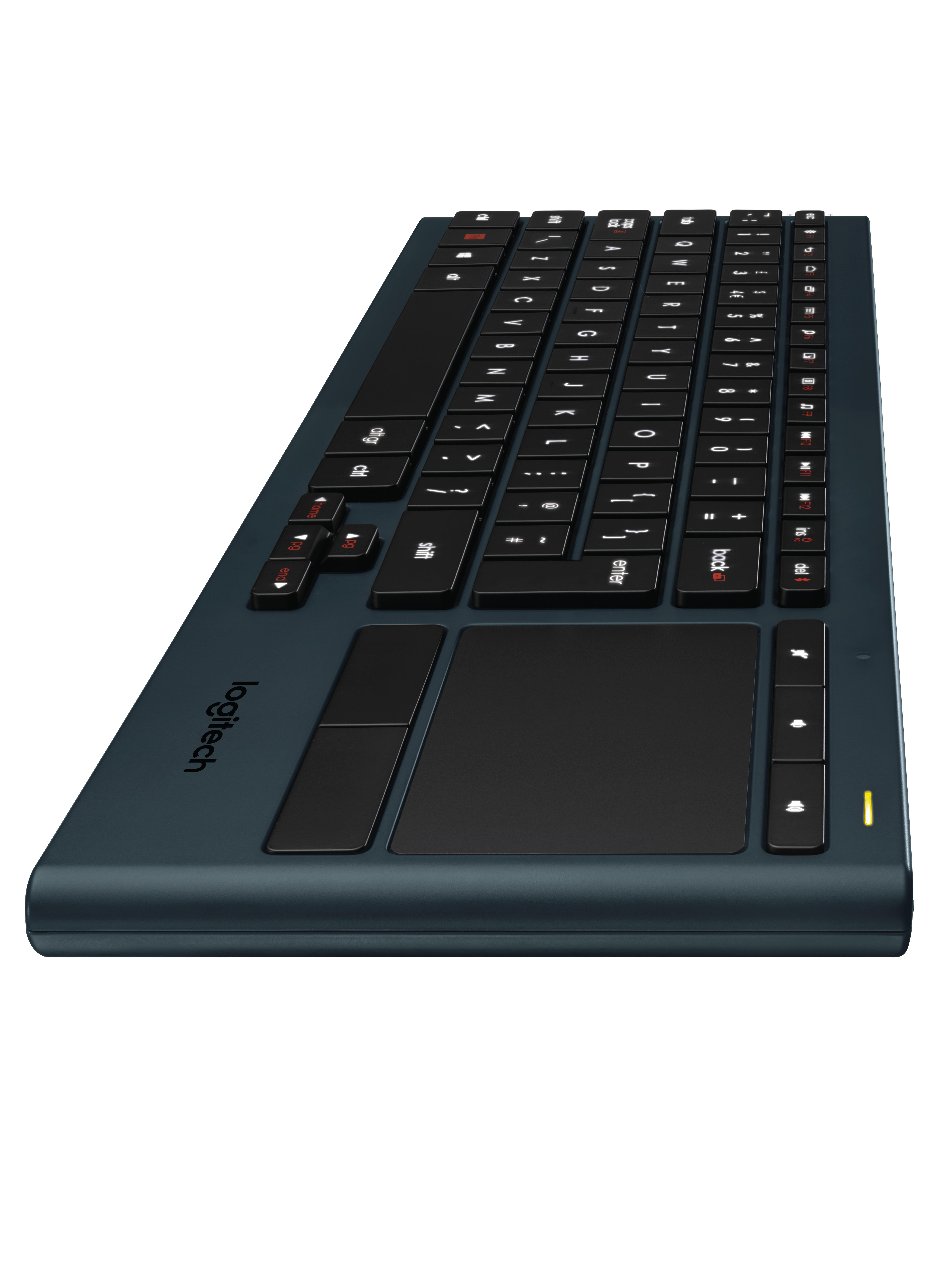 Logitech K830 RF Wireless + Bluetooth QWERTZ Deutsch Schwarz Tastatur