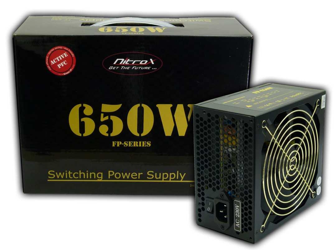 InterTech Nitrox FP650W 650 W 230 V 60 Hz 3 A 20+4 pin ATX 44 cm