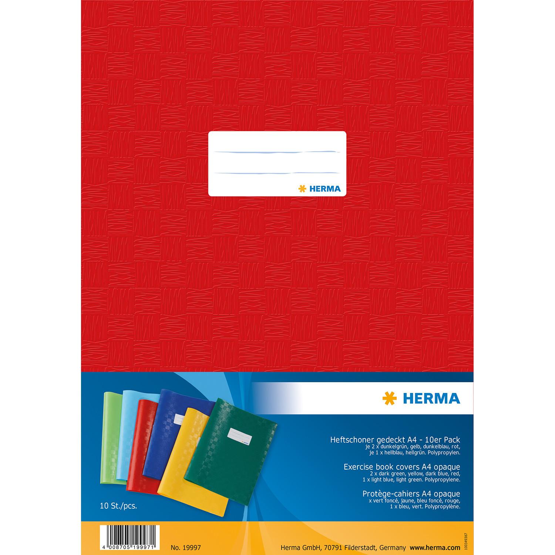 HERMA 19997 - Heftschoner - A4 - verschiedene Farben - Polypropylen (PP) - 10 Stück