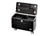 N16 - Multimedia-Wagen - Schwarz - Silber - Acrylnitril-Butadien-Styrol (ABS) - Aluminium - Notebook/Tablet - 30,5 cm (12 Zoll) - 16 Schublade(n)