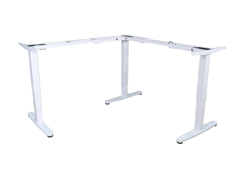 equip ERGO Elektrisches-Sitz-Steh Tischgestell in L-Form - Dreifachmotor - Weiß - Tischrahmen - Metall - Weiß - White - 1801 mm - 600 mm