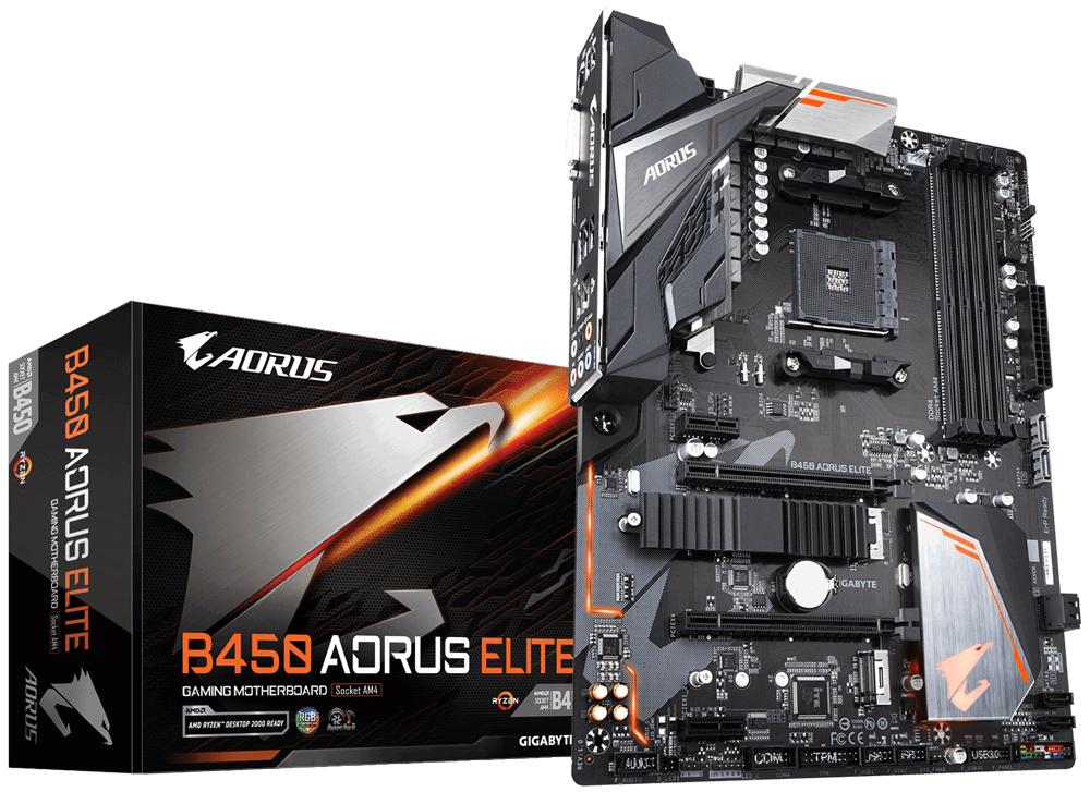 Gigabyte B450 AORUS ELITE AMD Socket AM4 AMD Athlon AMD Ryzen 3 2nd Generation A