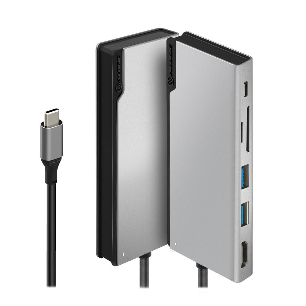 Vorschau: Alogic ULDUNI-SGR - USB Typ-C - HDMI,USB 3.2 Gen 1 (3.1 Gen 1) - Grau - 119,5 mm - 49,2 mm - 12 mm