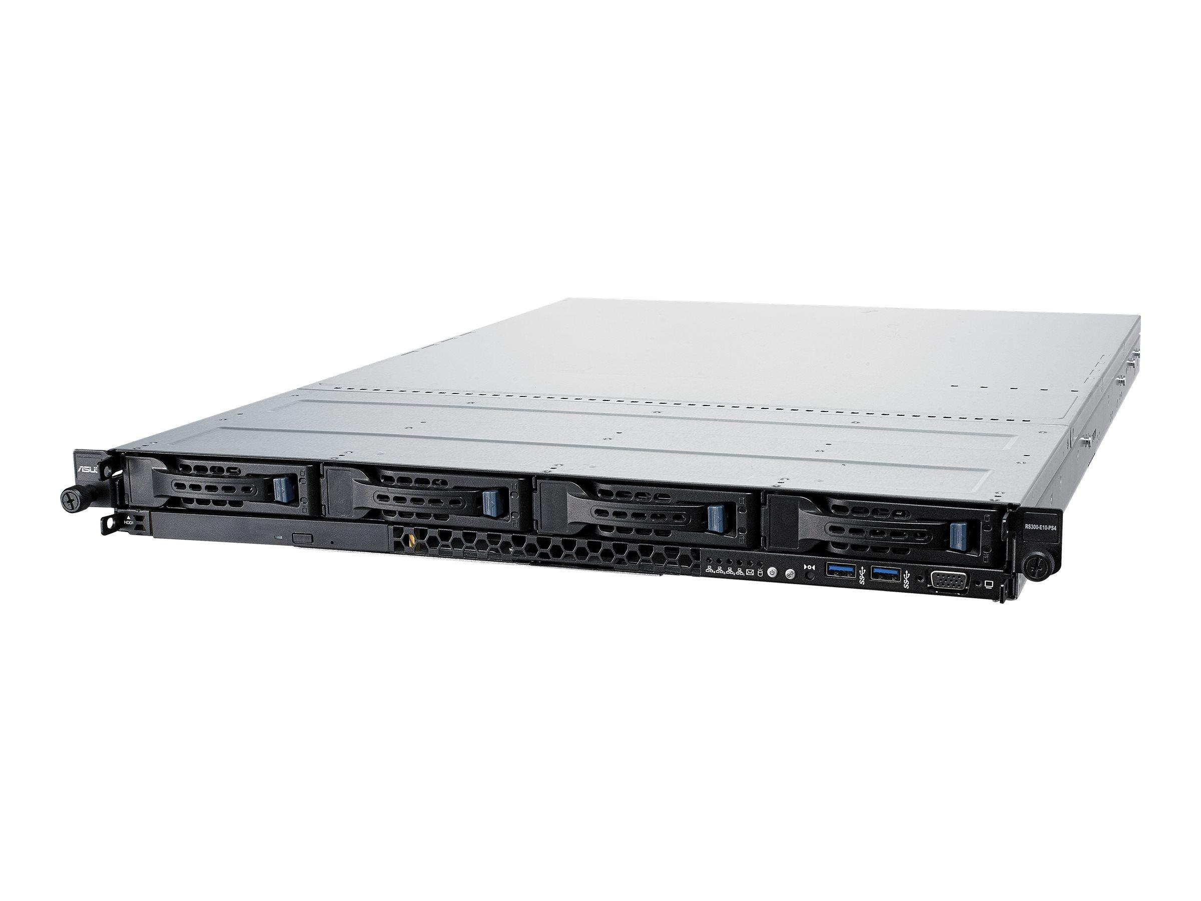 "ASUS RS300-E10-PS4 - Server - Rack-Montage - 1U - 1-Weg - keine CPU - RAM 0 GB - SATA - Hot-Swap 8.9 cm (3.5"")"