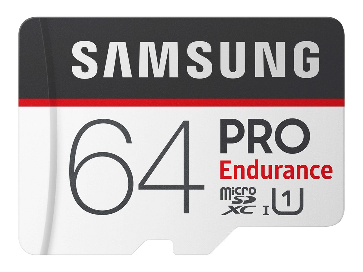 Samsung PRO Endurance MB-MJ64GA - Flash-Speicherkarte (microSDXC-an-SD-Adapter inbegriffen)