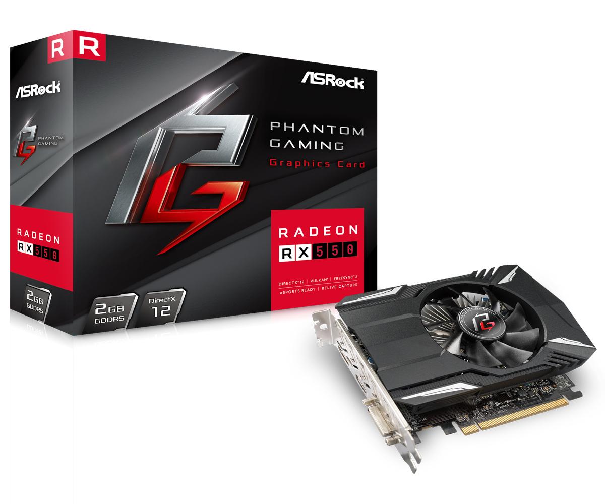 ASRock 90GA050000UANF Radeon RX 550 2 GB GDDR5 128 bit 5120 x 2880 pixels PCI Express x16 3.0
