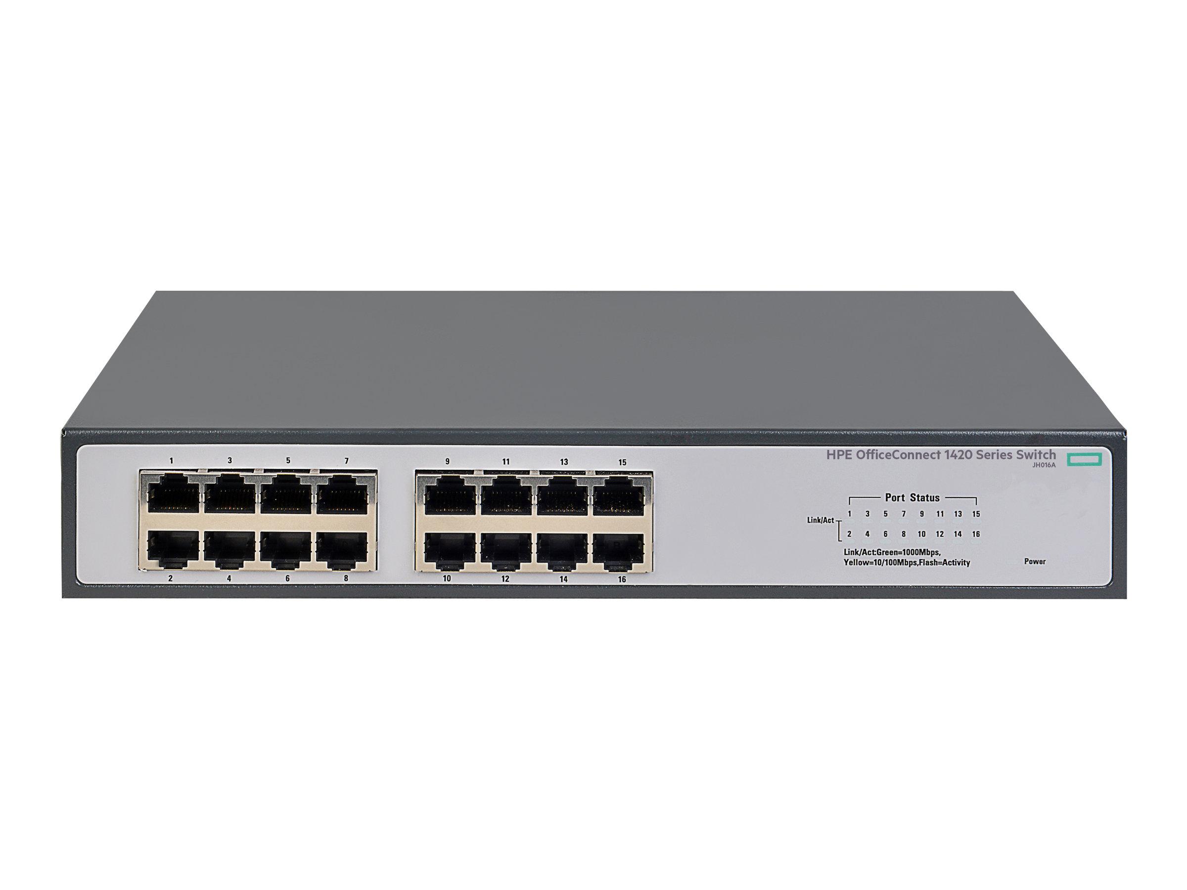 HP Enterprise 1420-16G - Switch - nicht verwaltet