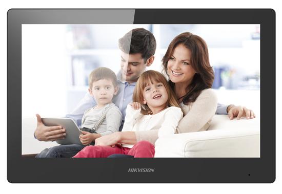 Hikvision DS-KH8520-WTE1 - 25,6 cm (10.1 Zoll) - LCD/TFT - 1024 x 600 Pixel - Kapazitiv - Schwarz - Schnelles Ethernet