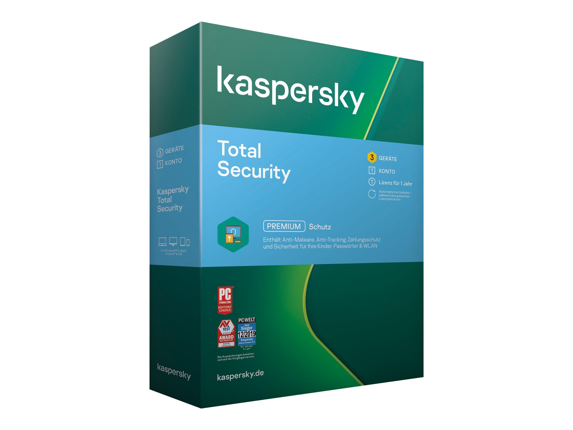 Kaspersky Total Security 2020 - Box-Pack (1 Jahr)