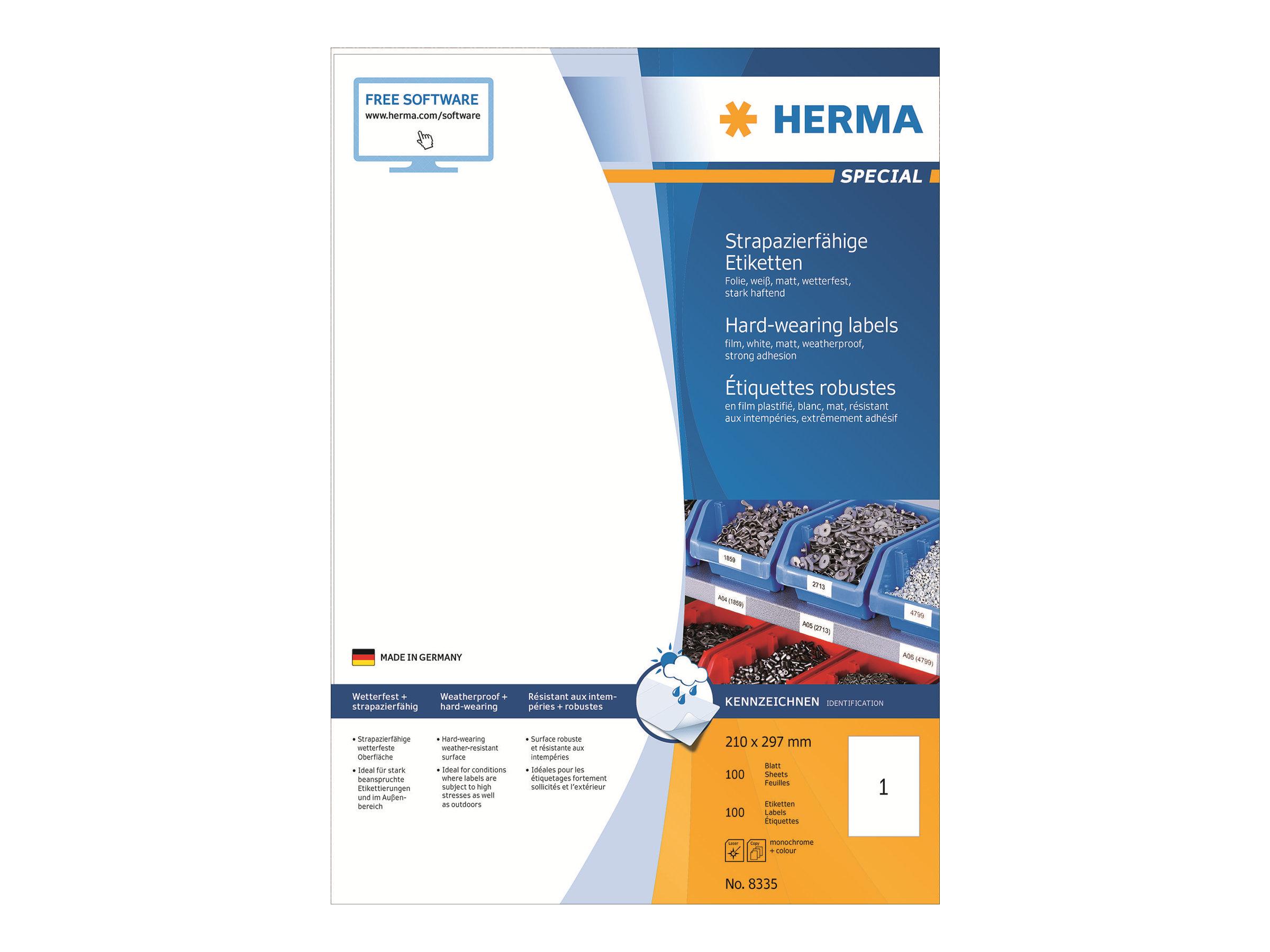 HERMA Special - Matt - selbstklebend - weiß - A4 (210 x 297 mm)