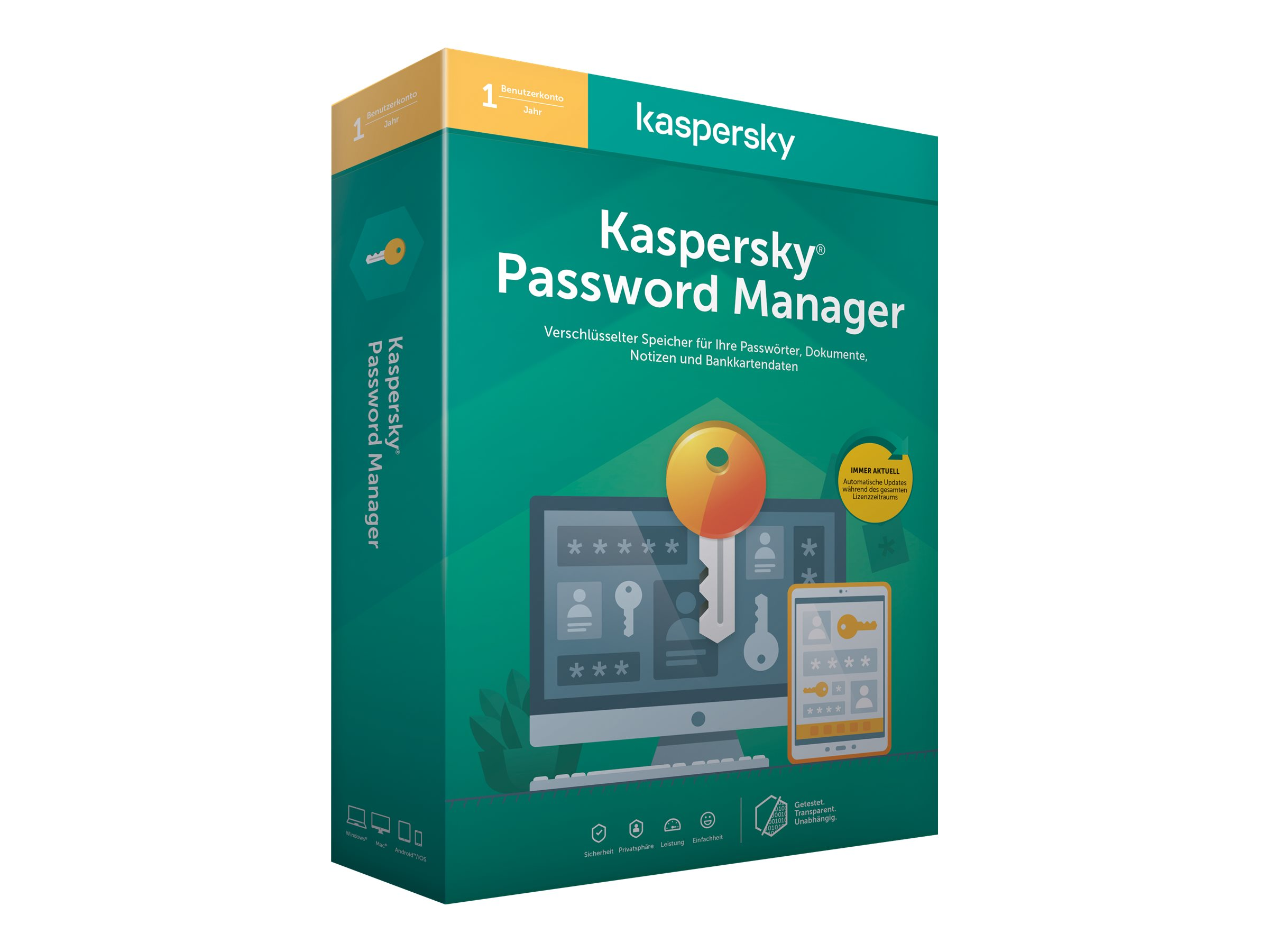 Kaspersky Password Manager - Box-Pack (1 Jahr) - 1 Benutzer (Sierra)