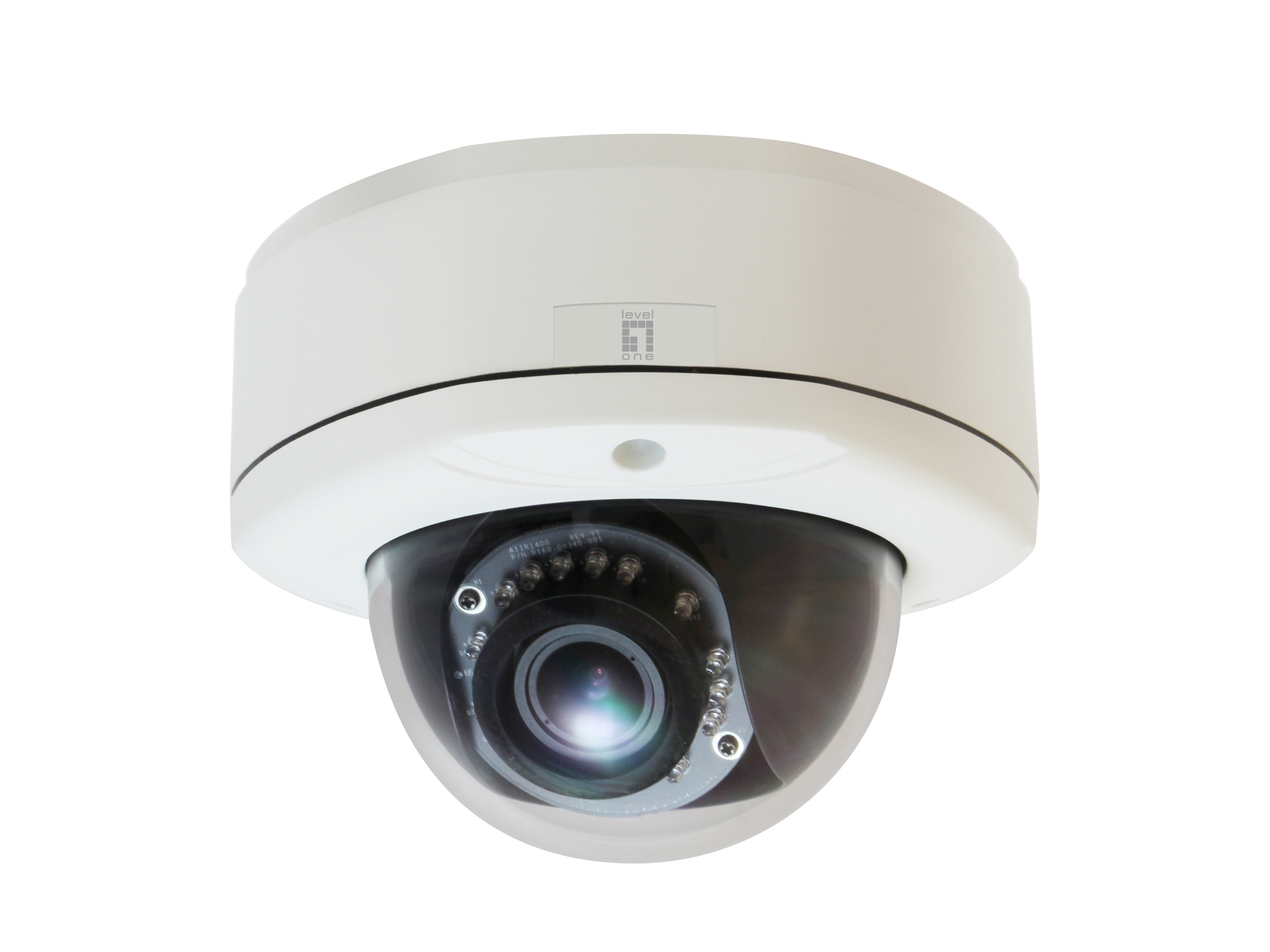 LevelOne Fixed Dome Network Camera - 3-Megapixel - Outdoor - PoE 802.3af - Day & Night - IR LEDs - WDR