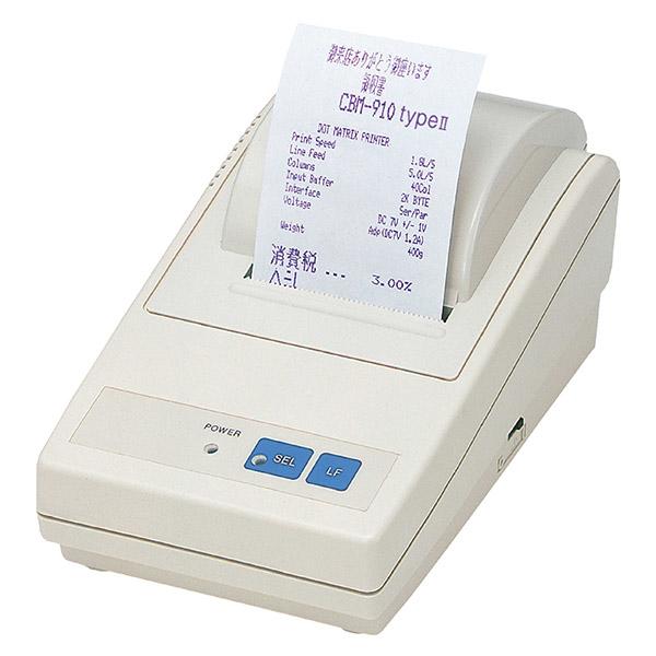 Citizen CBM910II Dot matrix POS printer 2.5 lps 1.62 x 2.4 mm Katakana,PC437,PC858,PC860,PC863,PC865,WPC1252 0.13 µm
