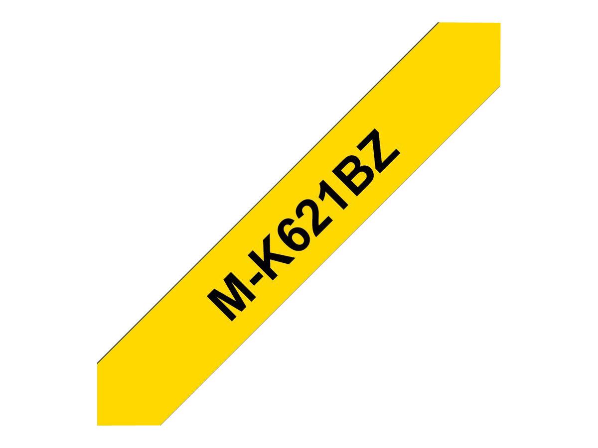Brother MK621BZ - Schwarz auf Gelb - Rolle (0,9 cm x 8 m)
