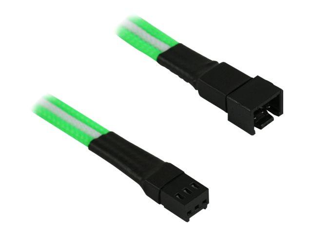 Nanoxia Single Sleeve - Verlängerungskabel für Lüfterspannungsversorgung - Molex, 3-polig (W)
