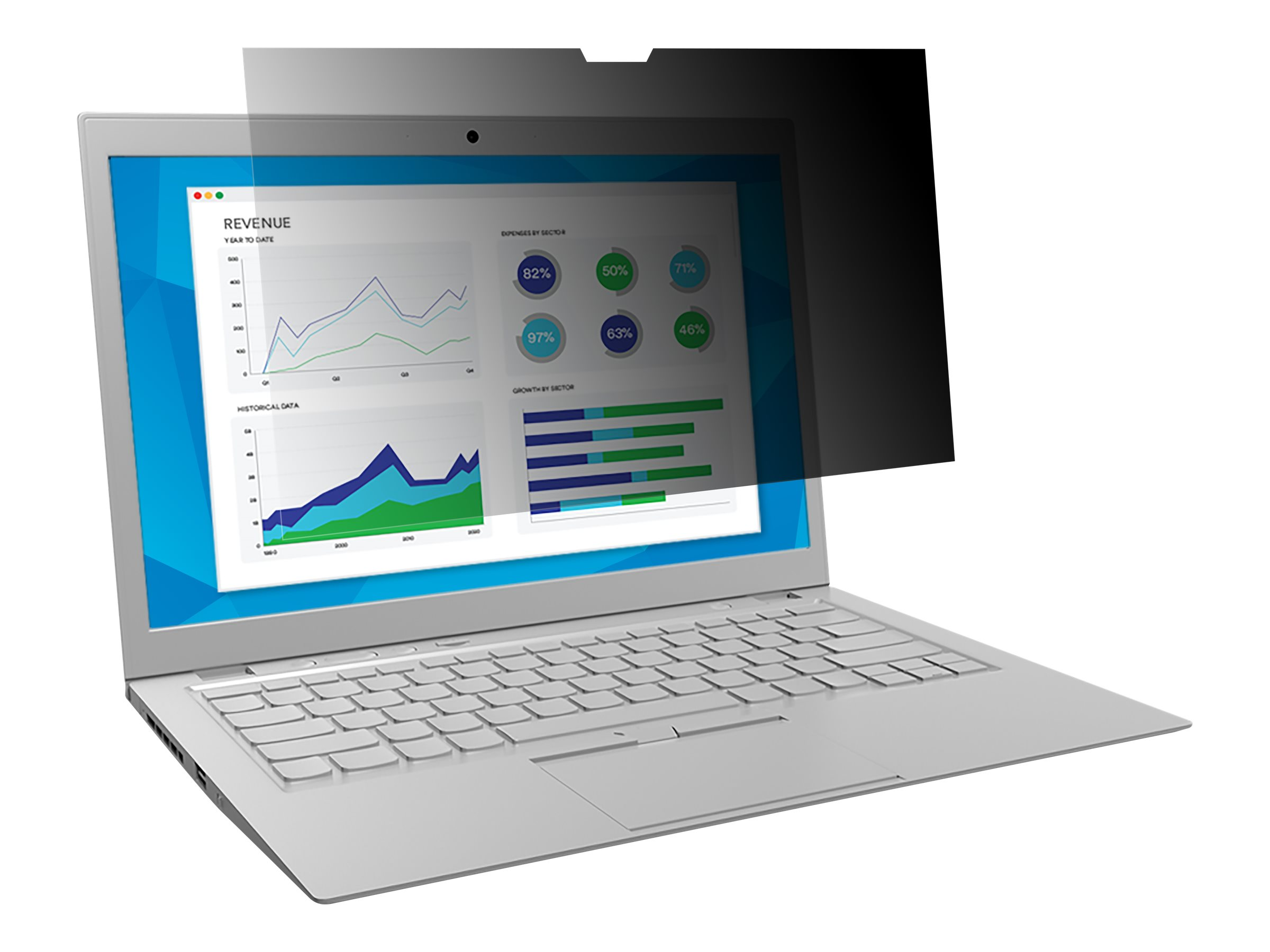 3M Blickschutzfilter for HP EliteBook x360 1030 G2 with COMPLY Attachment System - Blickschutzfilter für Notebook - 33,8 cm Breitbild (13,3 Zoll Breitbild)