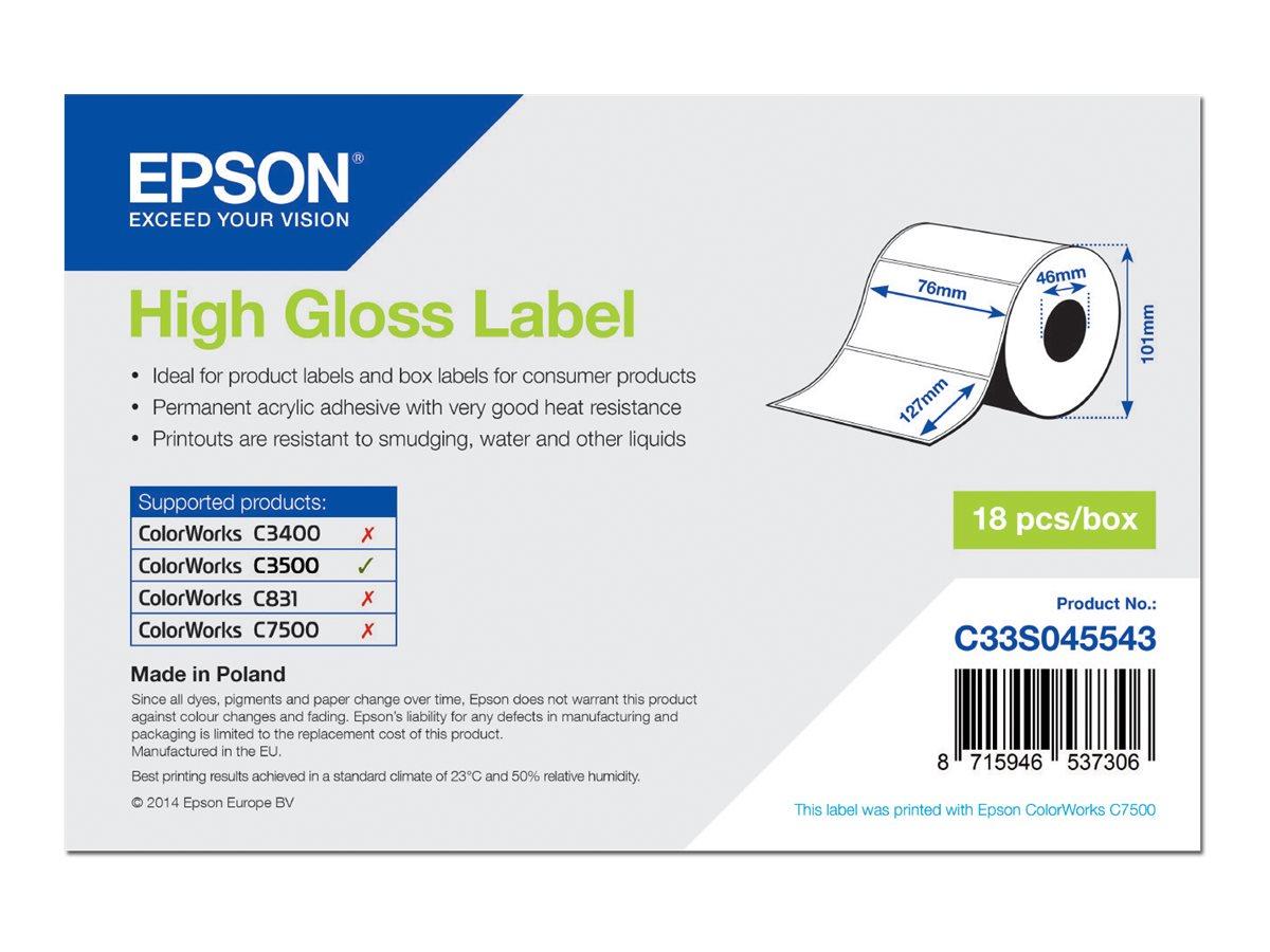 Epson Hochglänzend - 76 x 127 mm 250 Etikett(en) (1 Rolle(n) x 250) gestanzte Etiketten