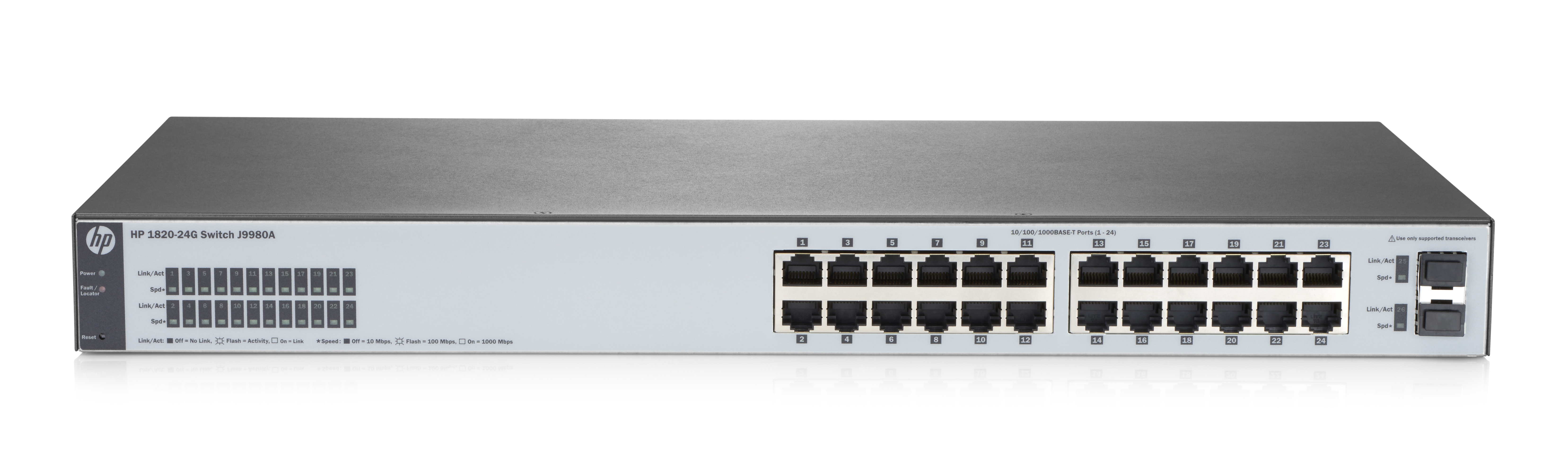 HP Enterprise 182024G Managed L2 Gigabit Ethernet (10/100/1000) Full duplex Rack mounting 1U