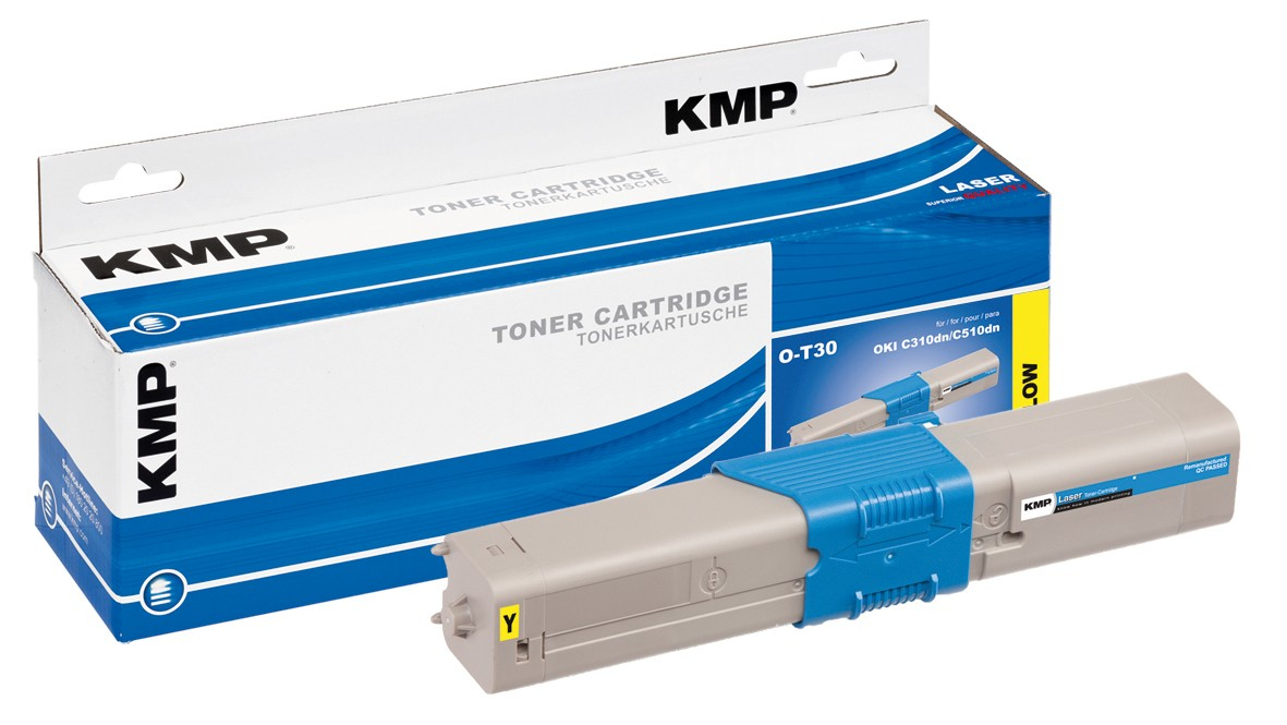 KMP O-T30 - 50 g - Gelb - compatible - Tonerpatrone