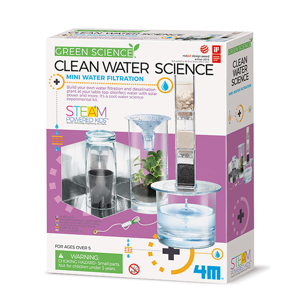 4m Green Science Clean Water Science - Experimentier-Set - Junge